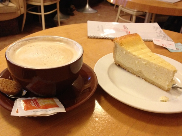 Best times - taking a break from the cold weather to have a coffee and yummy desserts