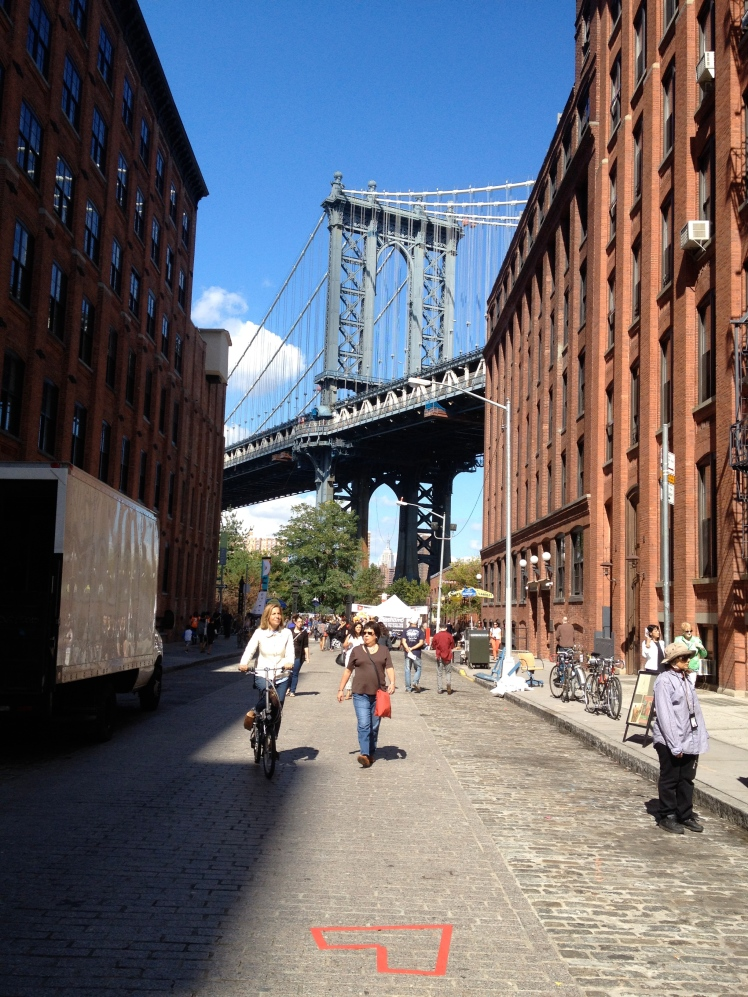 Visited a hip neighborhood called Dumbo in Brooklyn.