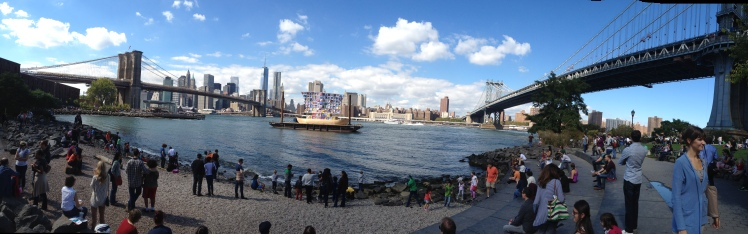 A lovely day to stroll around Brooklyn Bridge Park.